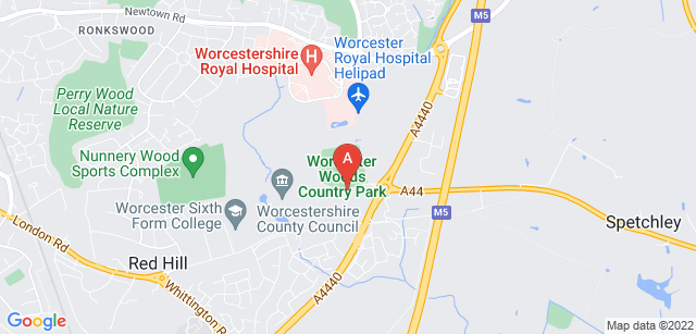 Google static map for St Richard's Hospice