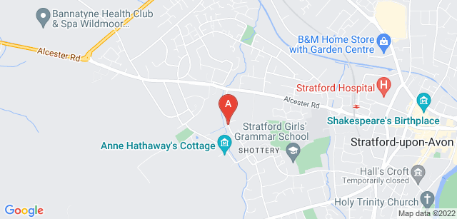 Google static map for The Shakespeare Hospice