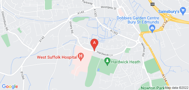 Google static map for St Nicholas Hospice Care