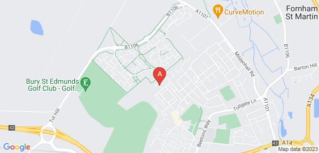Google static map for West Sussex Crematorium
