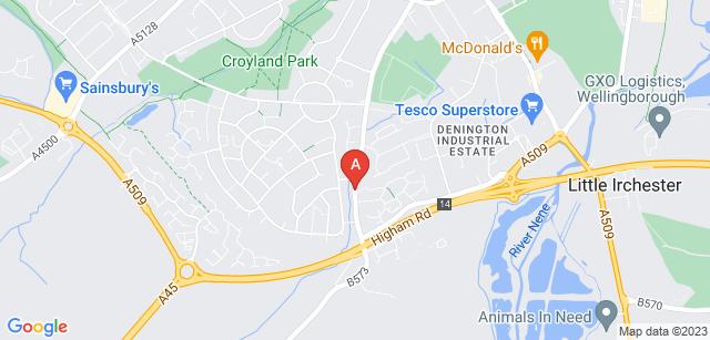 Google static map for Nene Valley Crematorium