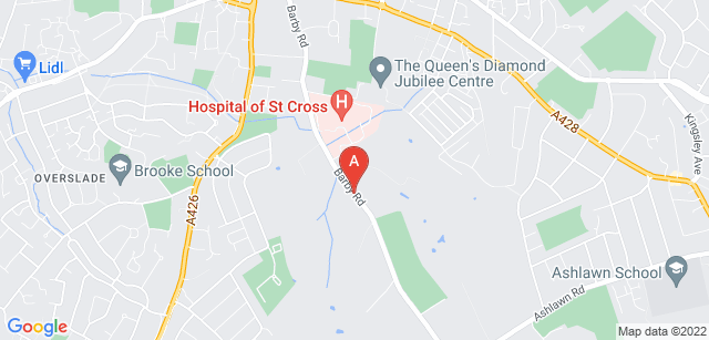 Google static map for Rugby Myton Hospice