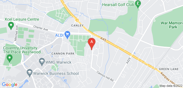 Google static map for Canley Crematorium