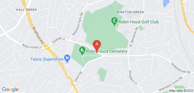 Google static map for Robin Hood Crematorium