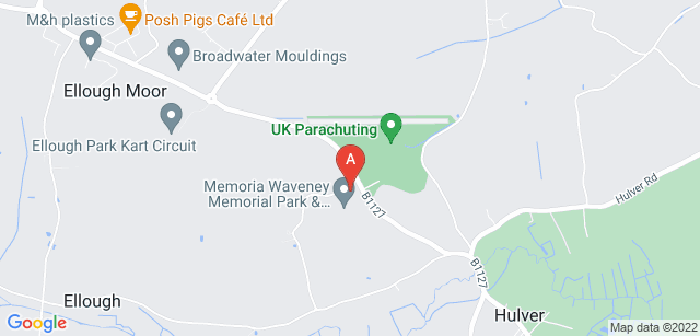 Google static map for Waveney Memorial Park and Crematorium