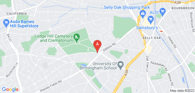 Google static map for Lodge Hill Crematorium