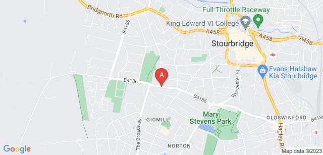 Google static map for Stourbridge Crematorium