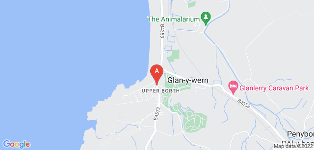 Google static map for Aberystwyth Crematorium