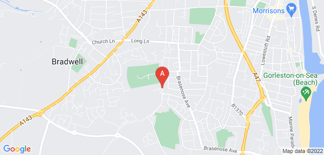 Google static map for Great Yarmouth Crematorium