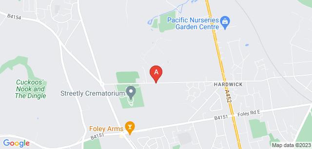 Google static map for Streetly Crematorium