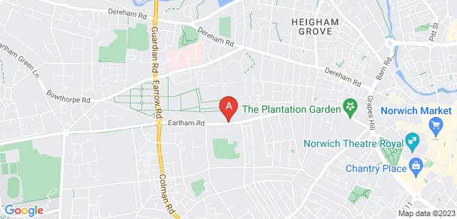 Google static map for Earlham Crematorium