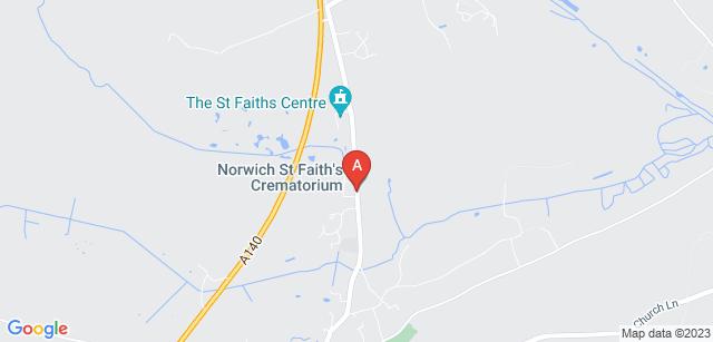 Google static map for Norwich St Faith Crematorium