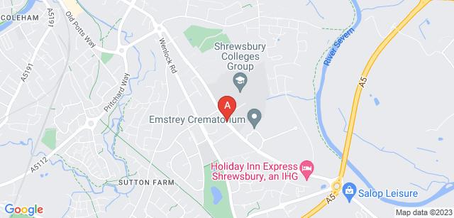 Google static map for Emstrey Crematorium