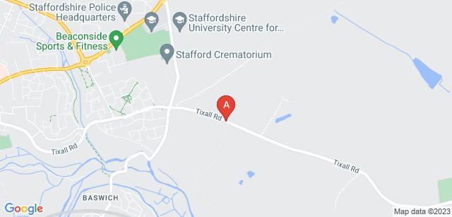 Google static map for Stafford Crematorium