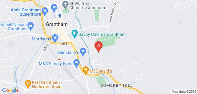 Google static map for Grantham Crematorium