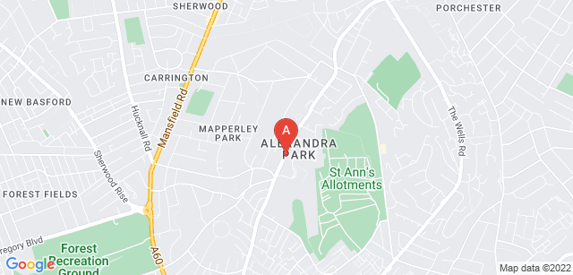 Google static map for Nottinghamshire Hospice
