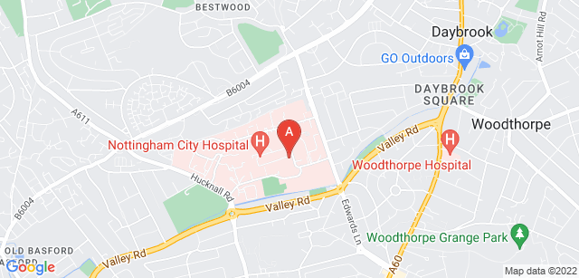 Google static map for Hayward House