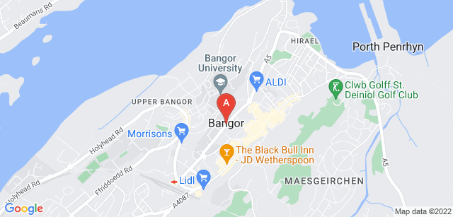 Google static map for Bangor Crematorium