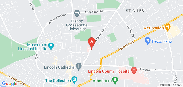 Google static map for St Barnabas Lincolnshire Hospice
