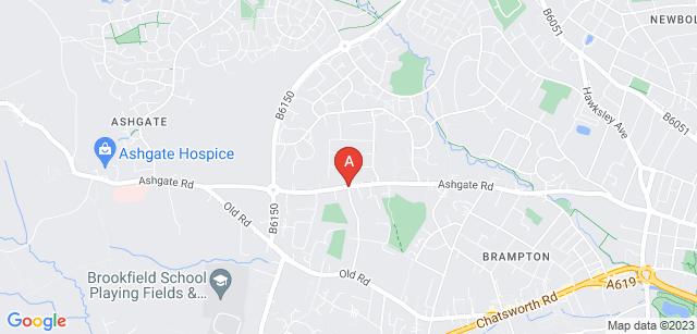 Google static map for Ashgate Hospicecare