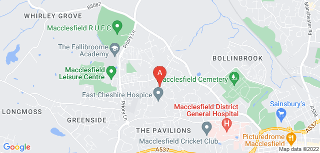Google static map for East Cheshire Hospice