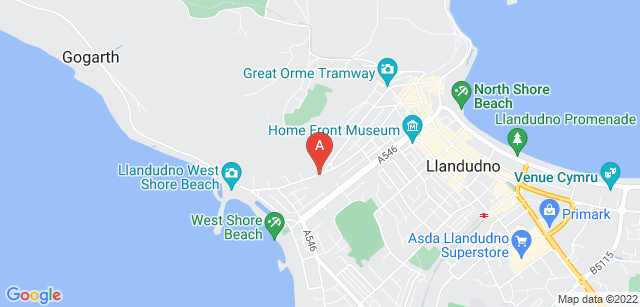 Google static map for St David's Hospice