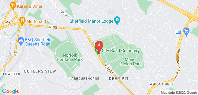 Google static map for City Road Crematorium