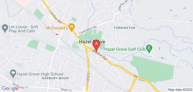 Google static map for Stockport Crematorium and Cemetery