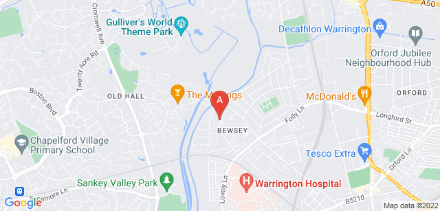 Google static map for St Rocco's Hospice
