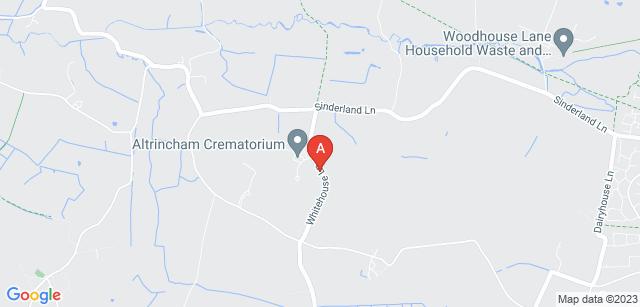 Google static map for Altrincham Crematorium