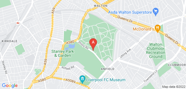 Google static map for Anfield Cemetery