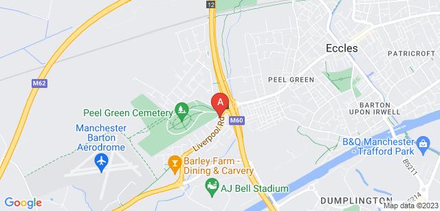 Google static map for Peel Green Crematorium