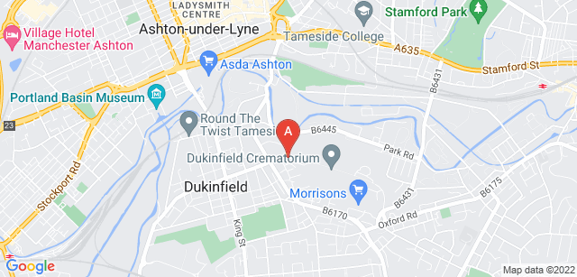 Google static map for Dukinfield Cemetery and Crematorium