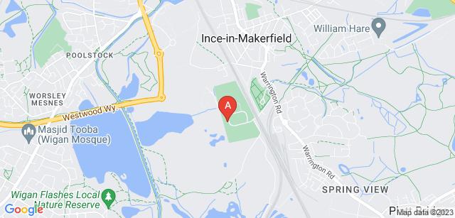 Google static map for Wigan Crematorium