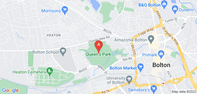 Google static map for Bolton Hospice