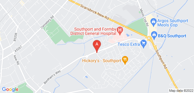 Google static map for Queenscourt Hospice