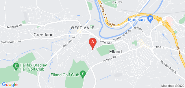 Google static map for Overgate Hospice
