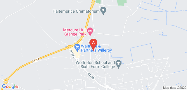 Google static map for Haltemprice Crematorium