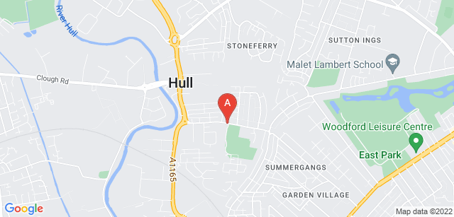 Google static map for Dove House Hospice
