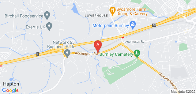 Google static map for Burnley Crematorium