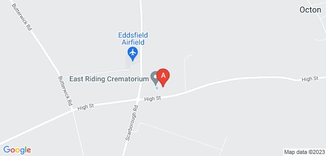 Google static map for East Riding Crematorium