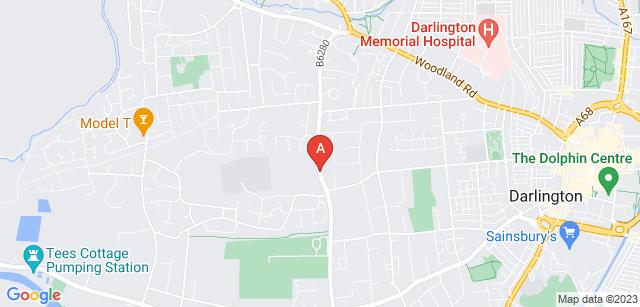 Google static map for Darlington Crematorium
