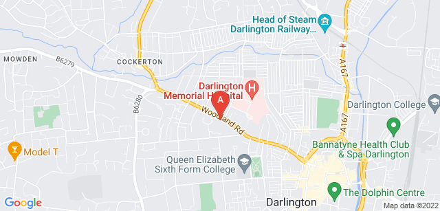 Google static map for St Teresa's Hospice
