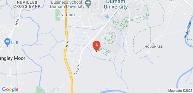 Google static map for Durham Crematorium