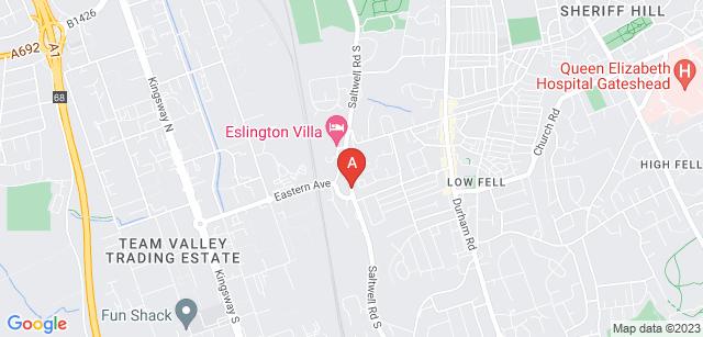 Google static map for Saltwell Crematorium