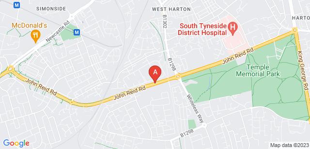 Google static map for South Shields Crematorium