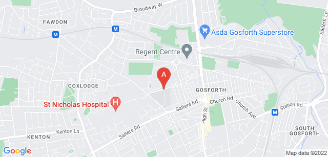 Google static map for St Oswald's Hospice