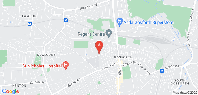 Google static map for St Oswald's Children's Service