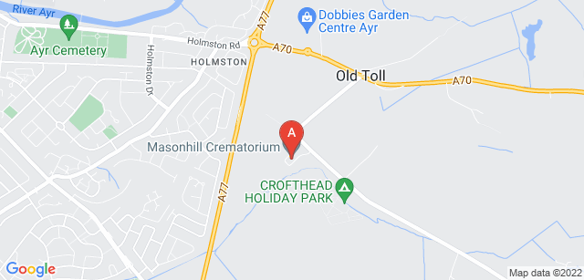 Google static map for Masonhill Crematorium