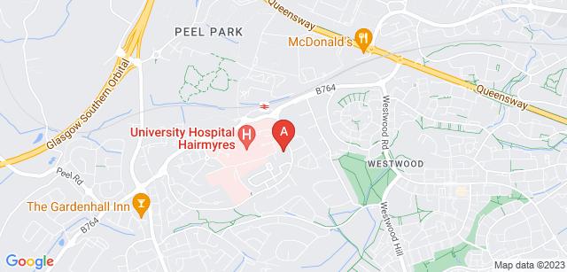 Google static map for Kilbryde Hospice